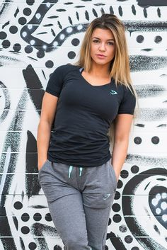 Nikki Blacketter styling the Verve T-Shirt with Impulse Joggers