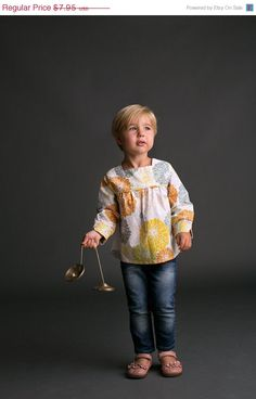 40% OFF Girls Shirt Pattern with Collar option - Long Sleeved Top Sewing Pattern PDF Download by tiedyediva on Etsy https://www.etsy.com/transaction/1041645298