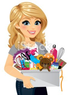A Woman Spring Cleaning In The Box Are A Mix Of Childrens Toys