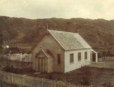 Wainuiomata Coast Road Church - Wainuiomata Pioneer Church Preservation Society In Front Porch Addition, Sawn Timber, Casement Windows, Side Wall, Wall Crosses, Place Of Worship, Roman Catholic, Panel Doors, New Zealand