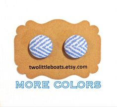 On Point Fabric Button Earrings by TwoLittleBoats on Etsy