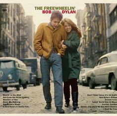Dylan, The Freewheelin' Bob Dylan. A favorite. Have the same pic of my hubby and I on the same street on my 30 th b day celebration... Love
