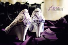purple wedding wedge shoes | customized wedding shoes Archives | Weddings Romantique