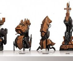 Chess Set Imagined As a Fleet of Military Vehicles by Concept Artist Luke Mancini - What an ART