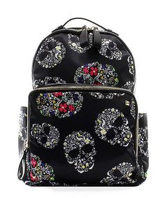 monogram sugar skull backpack-backpacks-diaper bag-school bag- day care bag- by Awesomepersonalgifts on Etsy Look Fashion, Fashion Bags, Fashion Backpack, Lolita Fashion, Fashion Dresses, Backpack Purse, Purse Wallet, Rucksack Backpack, Skull Purse