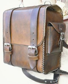 Brown Leather Nomad Backpack MXS