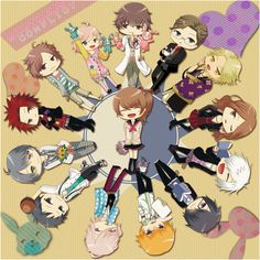 Brothers Conflict: Ema and her lovely brothers #otome #chibi