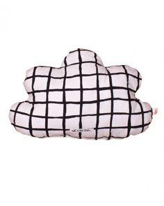 noe + zoe Small Cloud Pillow in Black Grid Cloud Pillow, Grid, Organic Cotton, Clouds, Pillows, Room, Inspiration, Black, Nursery