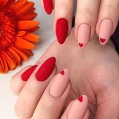 Red Nail Art, Red Acrylic Nails, Metallic Nails, Valentine's Day Nail Designs, Acrylic Nail Designs, Fire Nails, Heart Nails, Minimalist Nails, Dream Nails