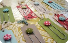 Adorable bookmarks - I can easily make these!