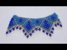 Campione di collana con perline creato usando la tecnica Netted   Nuove Creazioni - YouTube