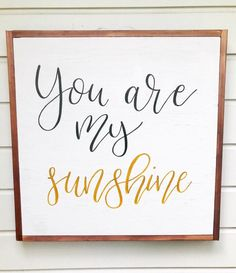 Excited to share this item from my #etsy shop: You Are My Sunshine | Framed Wooden Sign