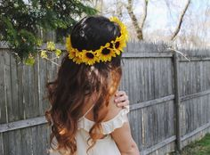 Extra Big Sunflower Flower Crown by tanyaslittleshop on Etsy