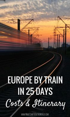 Europe By Rail in 25 days - Costs & Itinerary: Join me as I spend weeks exploring major European Cities by train including: Amsterdam Berlin Prague Krakow Budapest Vienna Venice Florence Pisa Rome & Dubrovnik! Europe By Train Europe Train Travel, Europe Travel Tips, Travel Guides, Places To Travel, Travel Destinations, Europe Europe, Traveling Europe, Summer Europe, Travel Deals