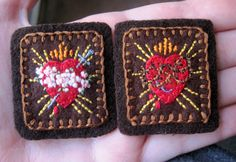 Embroidered Brown Scapular Sacred and by StellaMarigoldArt on Etsy