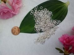 New Items in Our Findings Section & all Under $4.00!! 4mm Silver Plated Jumprings  50 Count by SkullMoto on Etsy, $1.75
