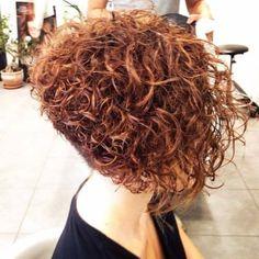 Curly-Stacked-Bob-Haircuts Popular Short Curly Hairstyles 2018 – 2019 Popular Short Curly Hairstyles 2018 – We have the most excellent and easy to style Popular Short Curly Hairstyles for ladies and teens Stacked Bob Hairstyles, Short Curly Bob, Haircuts For Curly Hair, Curly Hair Cuts, Curly Hair Styles, Bob Haircuts, Long Curly, Short Permed Hairstyles, Curly Inverted Bob