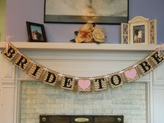Bride to Be Banner Chevron Garland/ Bridal by anyoccasionbanners, $26.25