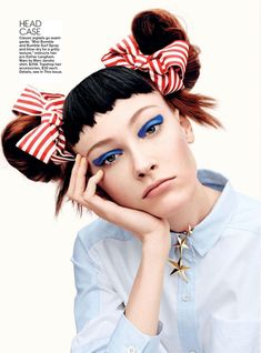 Holly Rose, Tong Zhang & Lera Tribel by Jason Kibbler for Teen Vogue August 2014 4