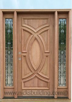 Wooden Front Door Design, Modern Front Door, Wooden Front Doors, Wood Design, Main Door Design Photos, Single Main Door Designs, Wood Exterior Door, Entry Doors, Wrought Iron