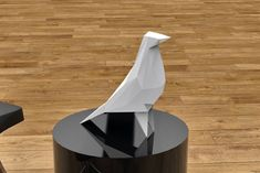 DIY Bird pigeon paper sculpture low poly by DearestBambi on Etsy