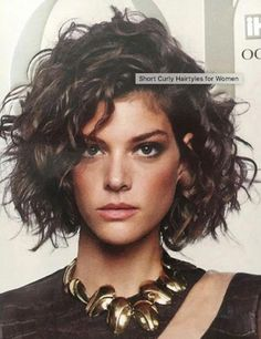 Stylish Curly Hair Styles Ideas For Women 2019 - Curly Bob Hairstyles Short Curly Hairstyles For Women, Curly Hair Styles, Curly Hair With Bangs, Curly Bob Hairstyles, Hairstyles With Bangs, Wavy Hair, Short Hair Cuts, Easy Hairstyles, Straight Hairstyles