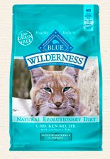 Inspired by the diet of the lynx, a tireless hunter and wild relative of our domesticated feline friends, protein-rich BLUE Wilderness contains a higher concentration of the delicious chicken you know