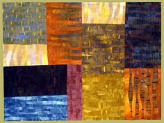 """Field of Dreams"" 46"" x 35"" quilt by Janet Steadman. Wonderful use of subtle color change to great depth and texture."