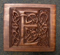 Celtic capital Letter Carved wood sign. by Carvedwithwhimsy, $47.00