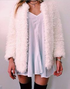 Alama Crop Cocoon Sleeve Curly Fur Jacket at Boohoo
