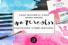 Watercolor Brush Stamps by kite-kit on Creative Market