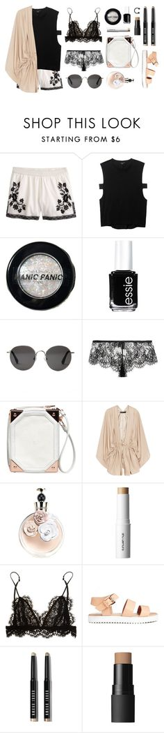 """""""Nude"""" by baludna ❤ liked on Polyvore featuring J.Crew, Theyskens' Theory, Manic Panic NYC, Essie, The Row, I.D. SARRIERI, Alexander Wang, Elizabeth and James, Valentino and shu uemura"""