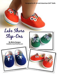 "Lake Shore Slip-Ons 18"" Doll Shoes                                                                                                                                                                                 More"