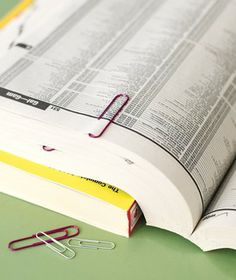 Paper Clip as Book Marker