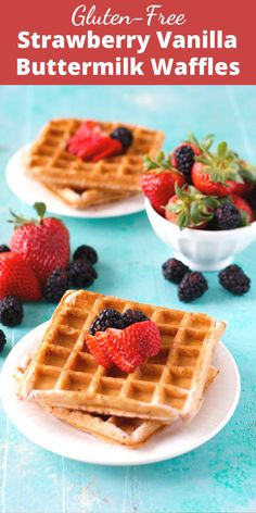 Add these Strawberry Vanilla Buttermilk Waffles to your morning routine! These gluten-free waffles are a great easy meal prep option! Waffle Recipes, Brunch Recipes, Sweet Recipes, Dessert Recipes, Recipes Dinner, Summer Recipes, Vegan Recipes, Easy No Bake Desserts, Low Carb Desserts