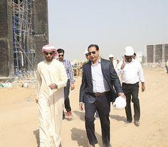 Sheikh Rashid bin Humaid visits 950 mil AED Read Development