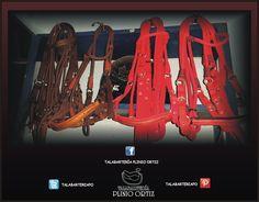 Aperos de cabeza de color cafe y rojo  #Talabartería #cuero #AperoDeCabeza #caballos #saddle #horse #TalabarteríaPlinioOrtiz