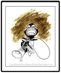 "Satchmo!  Hand signed by Al Hirschfeld  Limited-Edition Lithograph  Edition Size: 150  22"" x 18"""