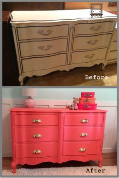 This project started with the hunt for the perfect dresser. My client has a new baby girl and her nursery was 99% ready, just waiting for THE perfect dresser/changing table. It had to be unique, it…