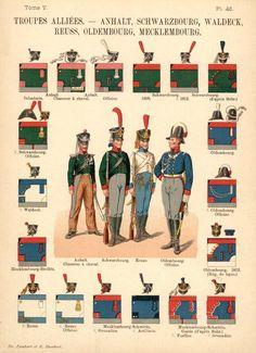 Союзные войска. Uniformes de I'Armee Francaise 1690-1894 Lienhart & Humbert