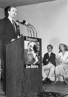 Joe Biden at the podium.