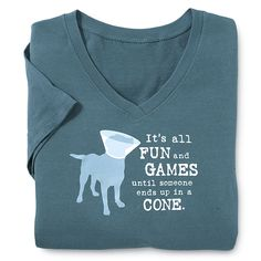 """Fun & Games…"" Longsleeve Tee - Dog Beds, Gates, Crates, Collars, Toys, Dog Clothing & Gifts"