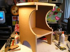 Make Furniture With Cardboard!byCreativeman / Instructables (At least two of the comments are about making it flame resistant.)