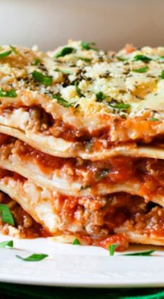 Sausage Lasagna with Cream Cheese