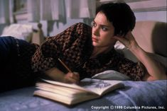 Art journals in movies and television The movie Girl, Interrupted is based on writer Susanne Kaysen's account of her stay at a mental hospital in the The film stars Winona Ryder,. Winona Ryder, Johnny And Winona, Girl Interrupted, Off Grid, Winona Forever, Iconic Movies, Film Serie, Series Movies, Tv Series