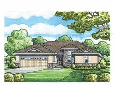 walkers cottage house plan # 11137, front elevation, european