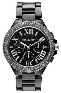 Michael Kors 'Camille' Chronograph Ceramic Bracelet Watch, 43mm   Nordstrom