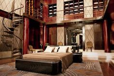 Great Gatsby | Baz Luhrmann | Set Design | Art Deco | Jay Gatsby | Gatsby Bedroom Stairway