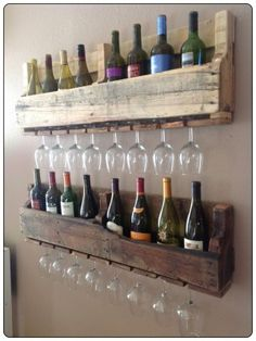 Das ist doch mal ne super Idee für ein originelles Weinregal!
