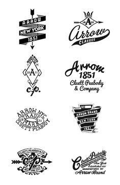 Arrow/ Cluett Labels and Packaging by Glenn Wolk, via Behance